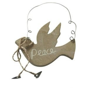 Wooden Rustic Dove Decoration