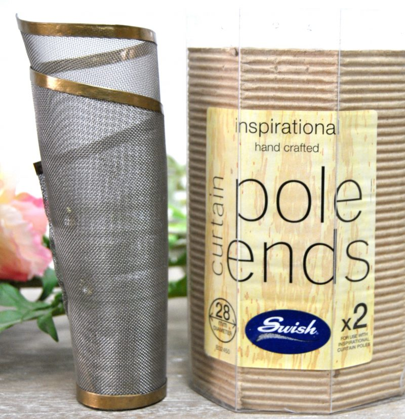 gold silver Pole End