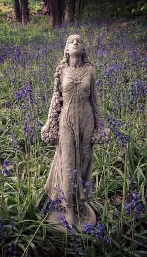 Large garden lady statue
