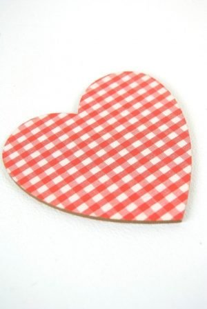 red heart shaped coasters
