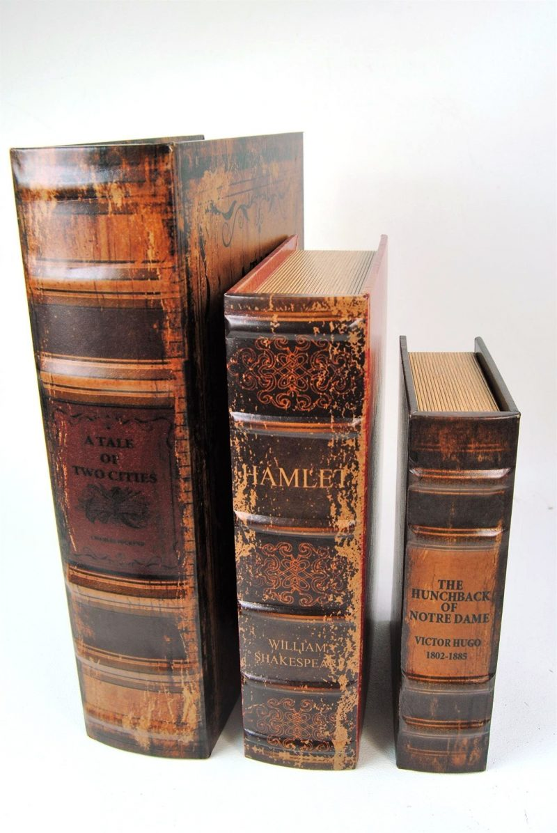 Antiqued Book Stacking Boxes
