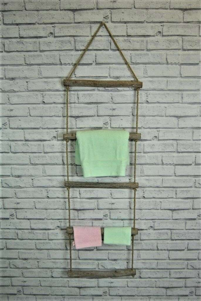 Rustic Wall Towel Ladder