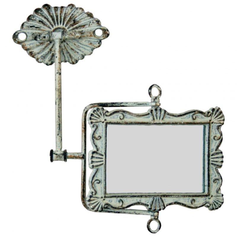 Adjustable ornate wall mirror