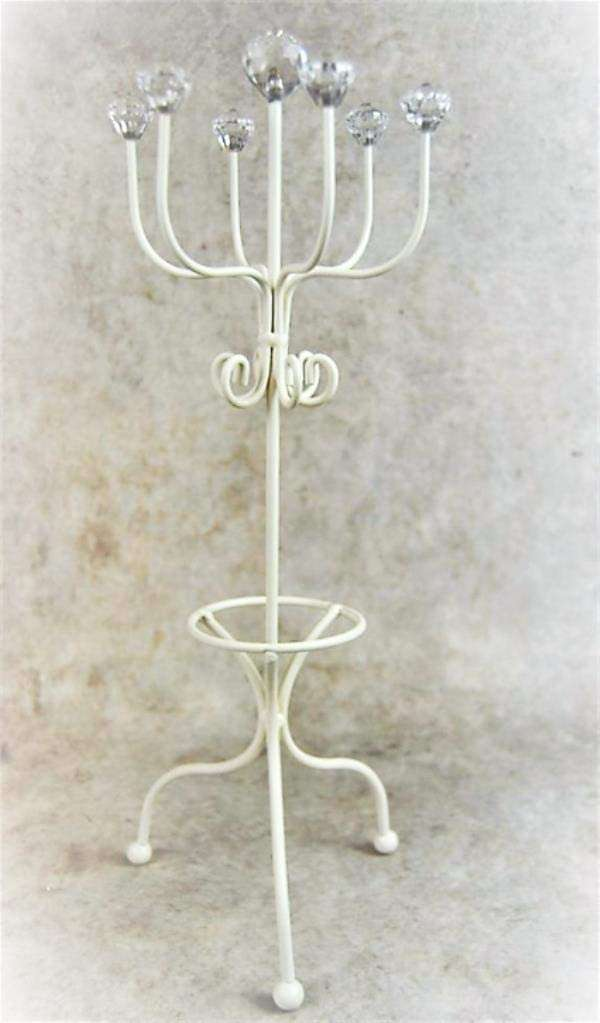 Cream Metal Jewellery Stand