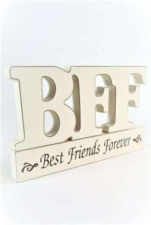 Friends Wooden freestanding Plaque
