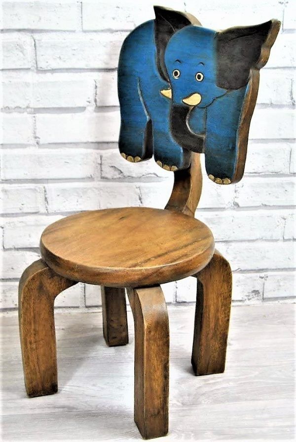 Childs Elephant Chair Indian Hardwood