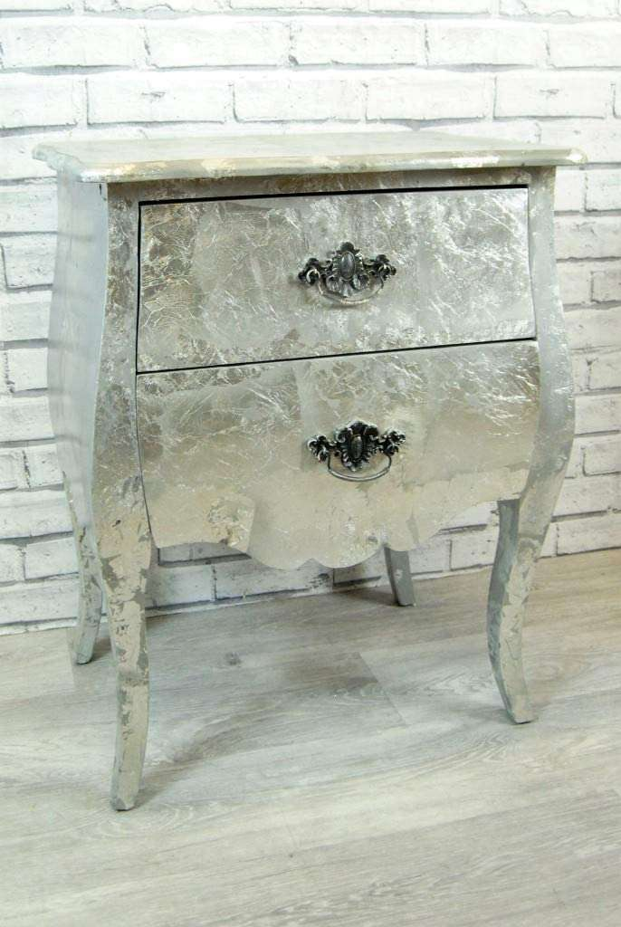 Silver leaf Drawer Table