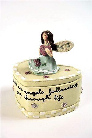 Friends Angel Heart Trinket Box
