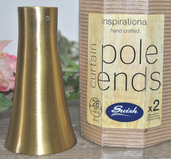 Gold Cone Pole Ends