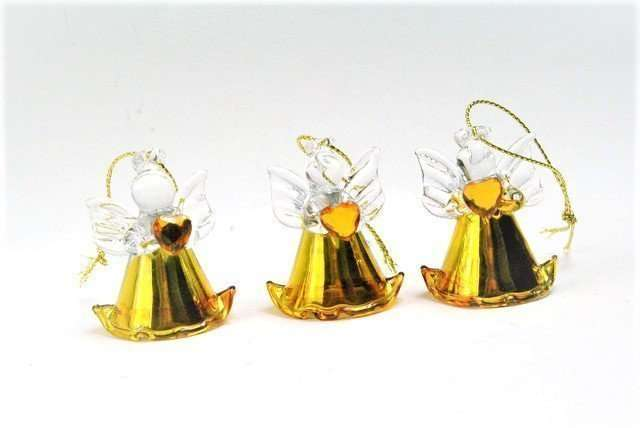 Gold Glass Hanging Angels