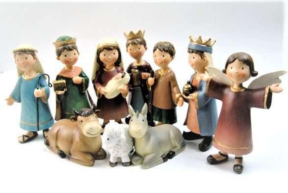 Christmas Childrens Nativity scene