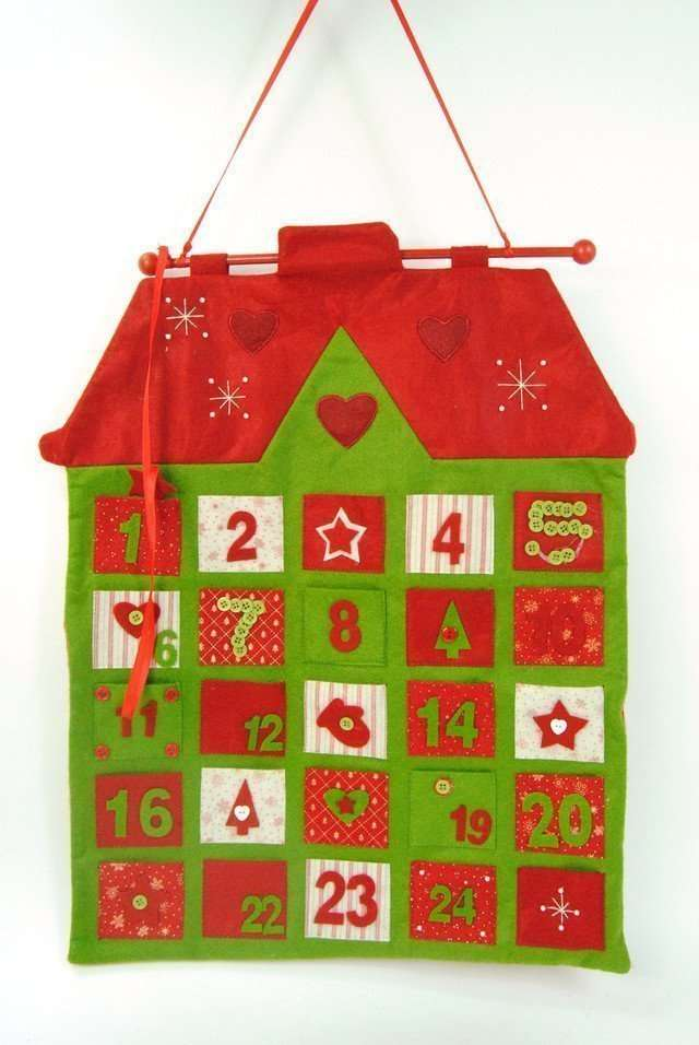 Christmas Advent Hanging House