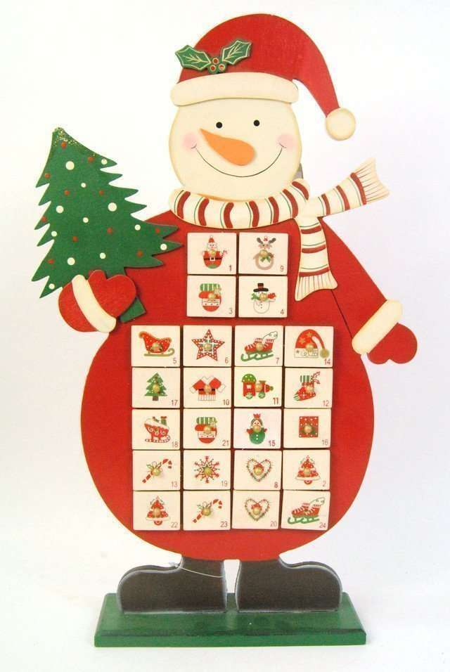 Christmas Snowman advent Calendar