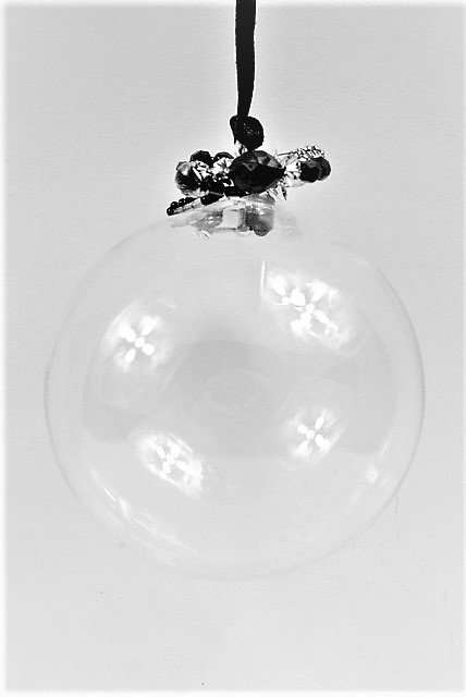 Christmas Handcrafted Clear Baubles
