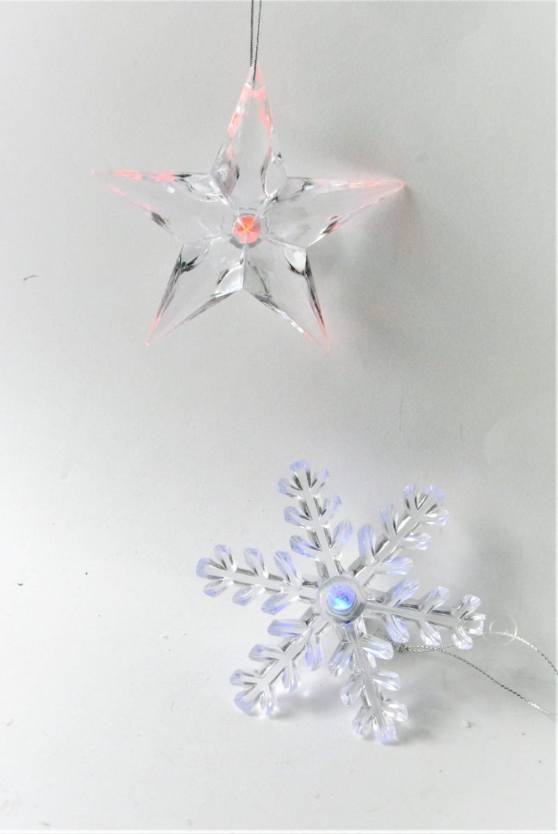 LED Snowflake Star Decorations