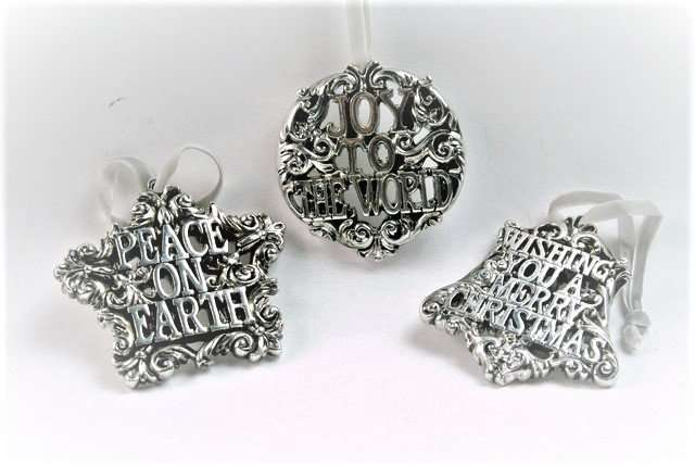 Antique Silver Christmas Decorations