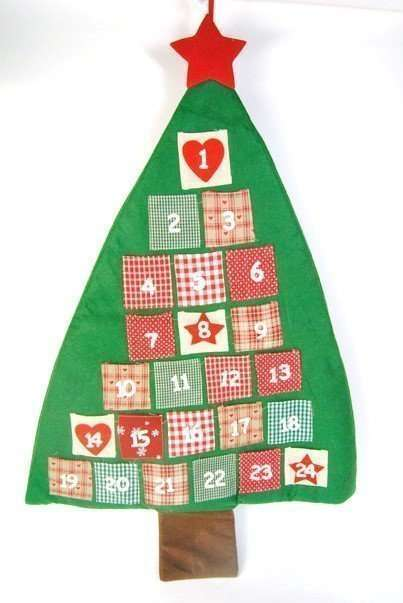 Advent Calendar Fabric Tree