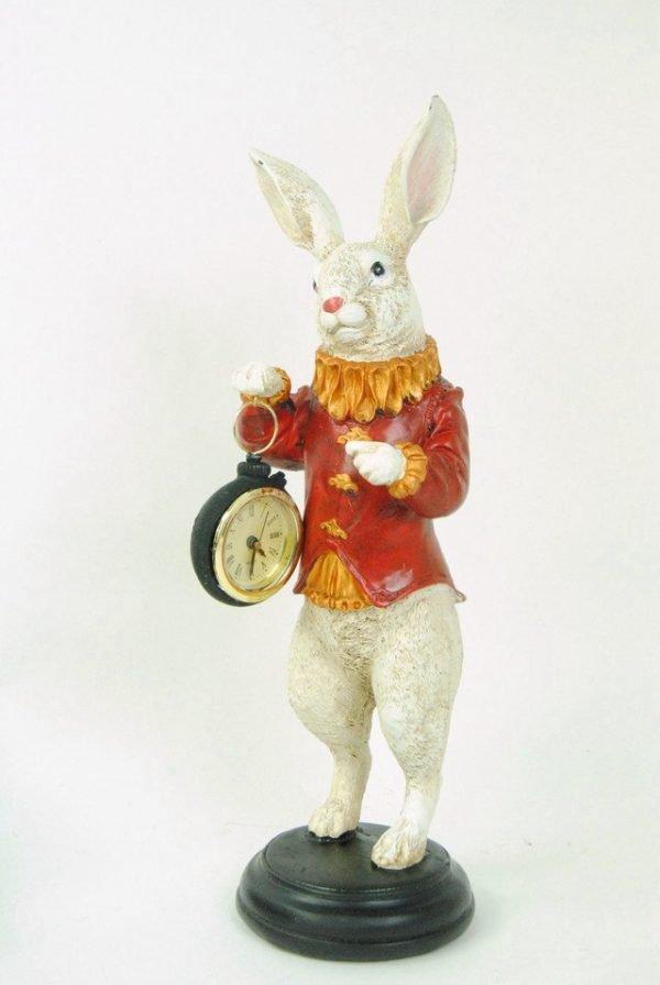 White Rabbit Clock Ornament