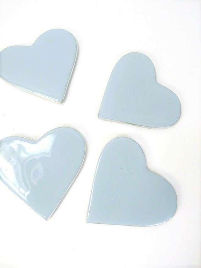 Coasters Enamel Heart shaped