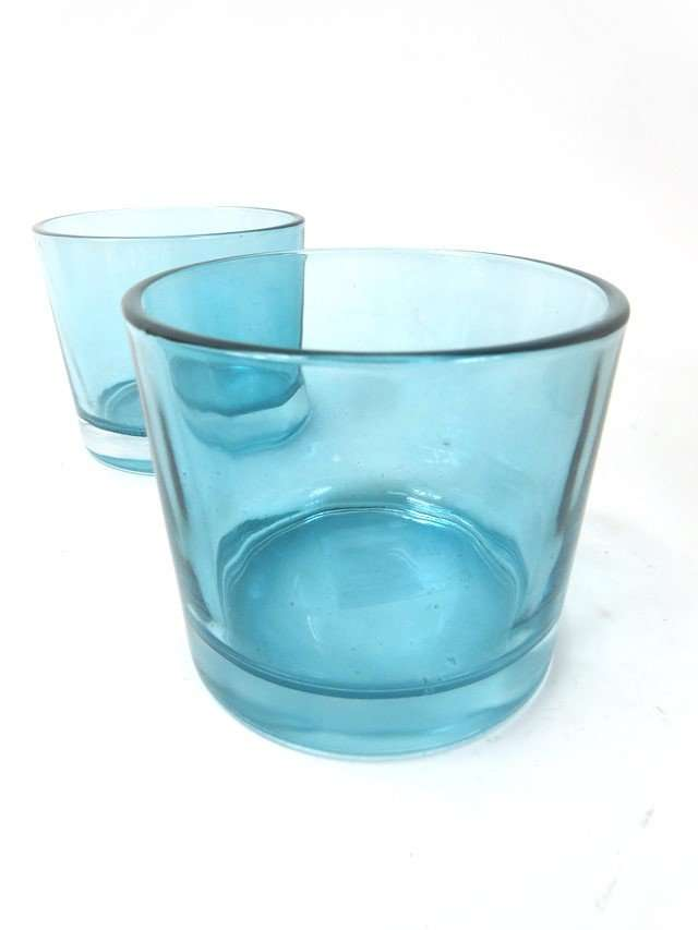 Blue Tealight Candle Holders.