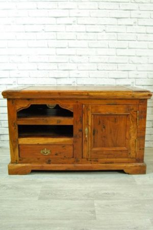 Wooden rustic Television unit.