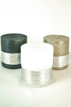 Metallic Glitter Church Candles