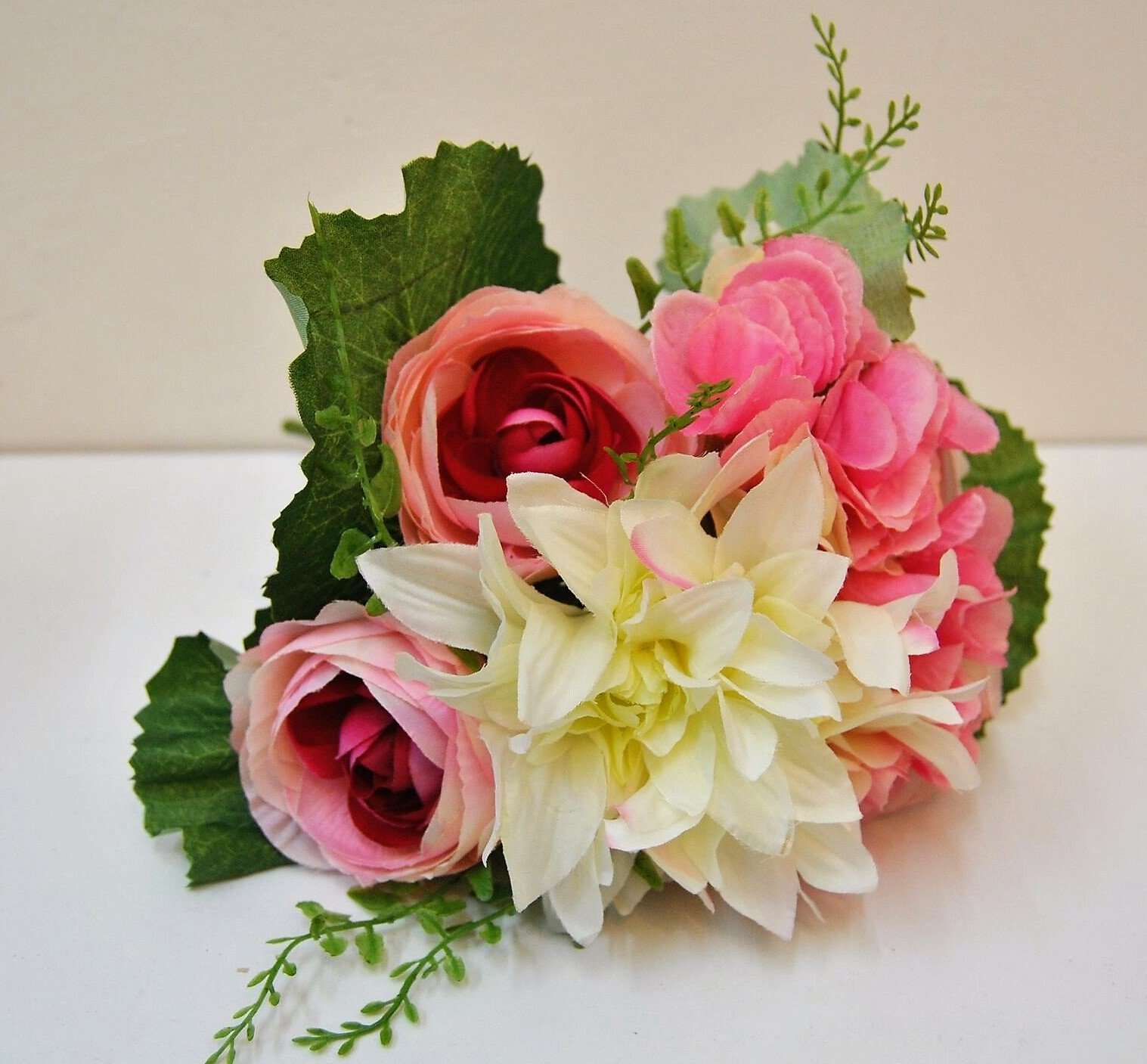 Flower Bouquet Bunch Of Mixed Country Cottage Style Artificial Flower Arrangement Four Seasons Liverpool