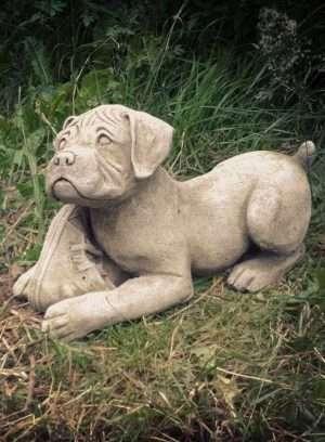 Playful Garden Puppy Ornament