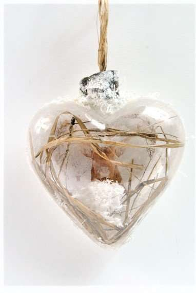 Stag Deer Heart Decorations