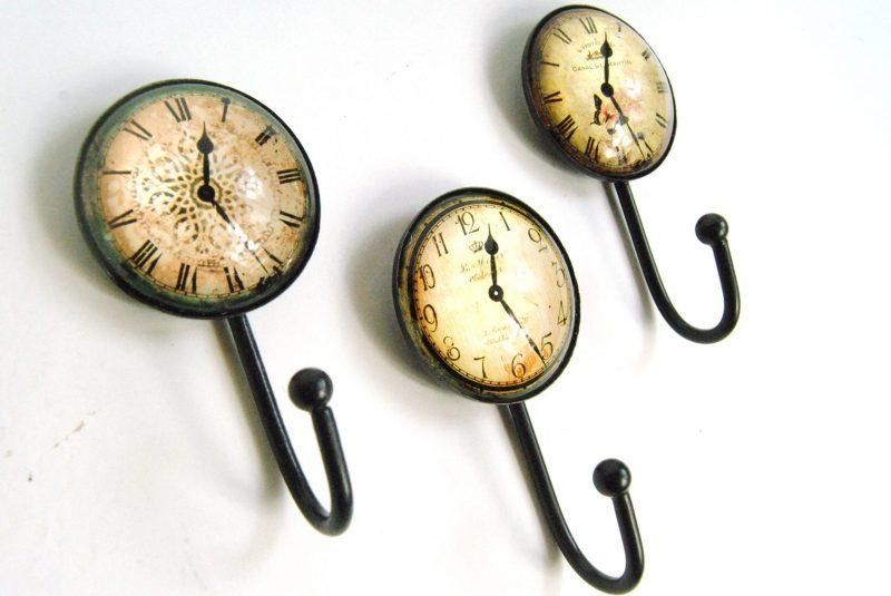 Coat Hooks Clock Inspired