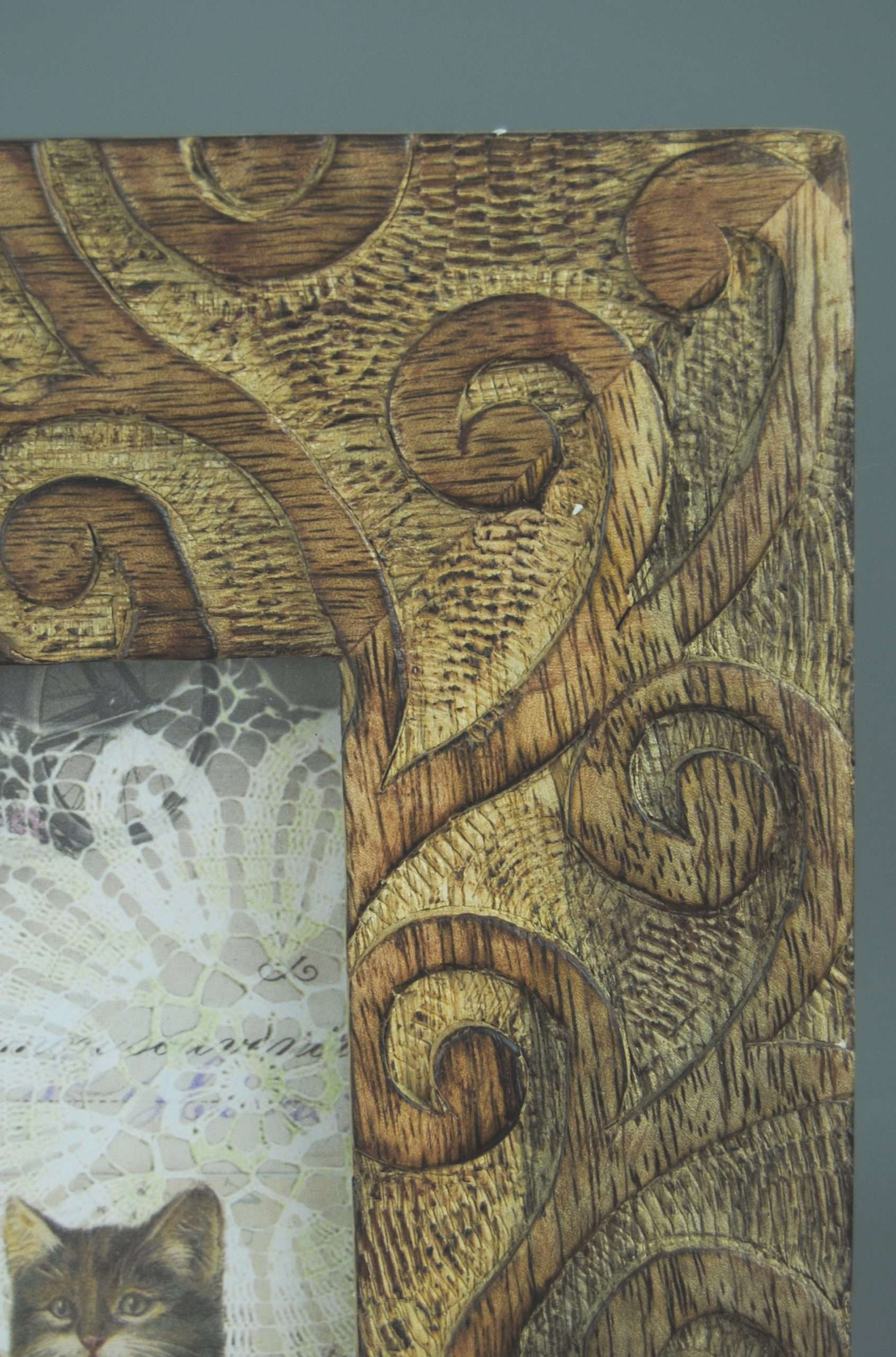 Photo Frame 8 x 10 Picture Hand Carved Wooden Tree Design ...