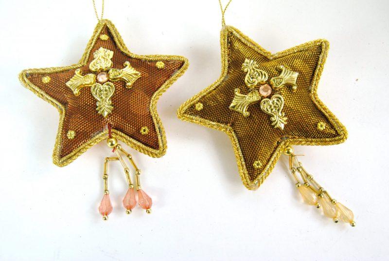 Bronze Star Christmas Decorations