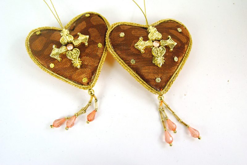 Bronze Hanging Heart Decorations