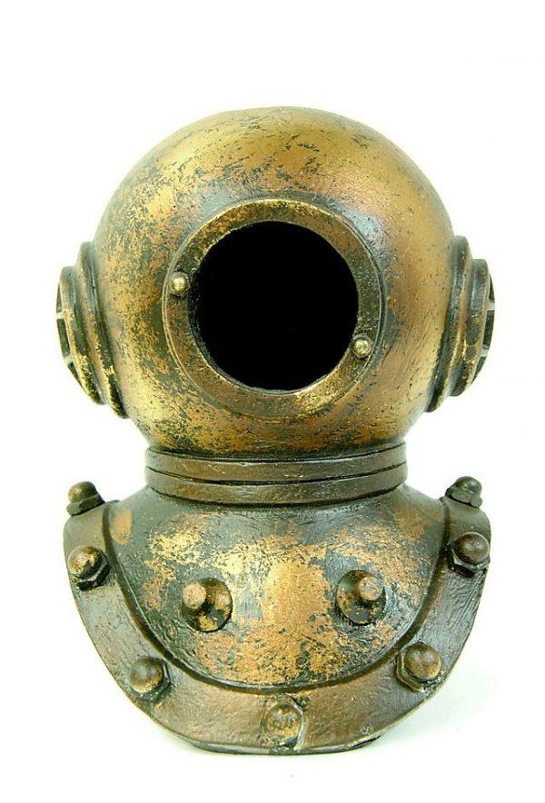 Divers Helmet Ornament Gold