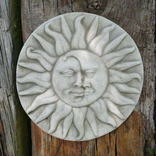 Garden Sun Moon Plaque