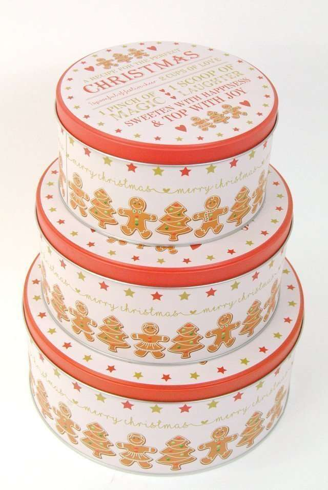 Gingerbread Man storage Tins