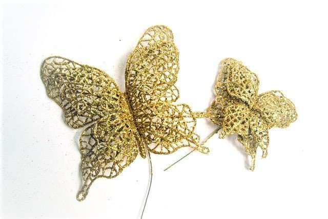 Gold Glitter Butterfly Set