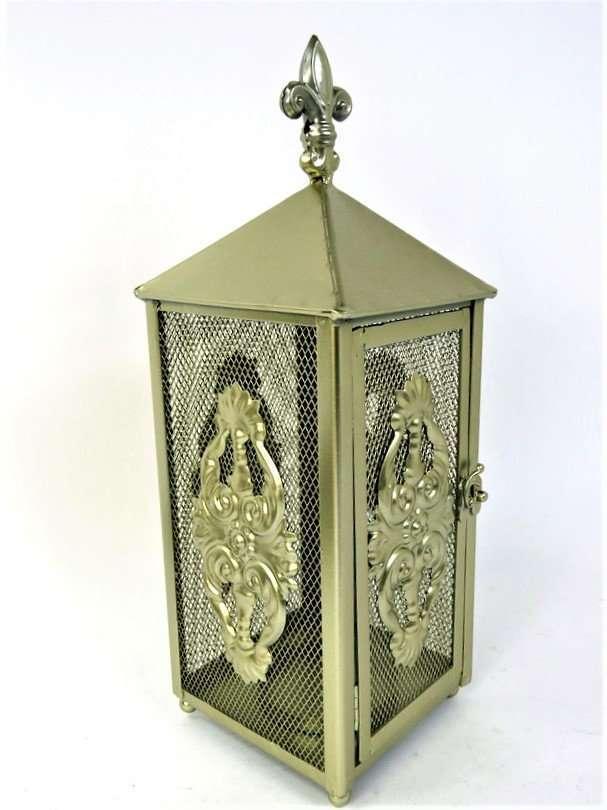 Gold Champagne Metal Lantern