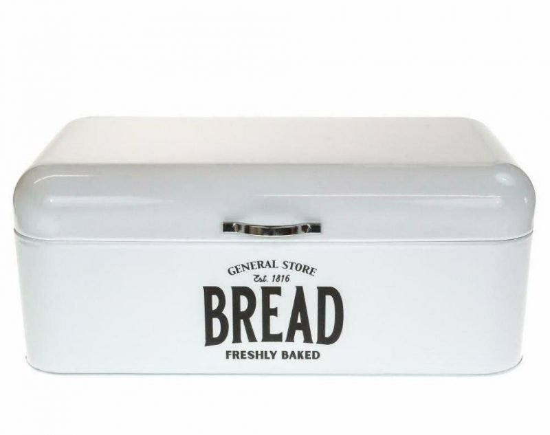 Bread Bin White Retro