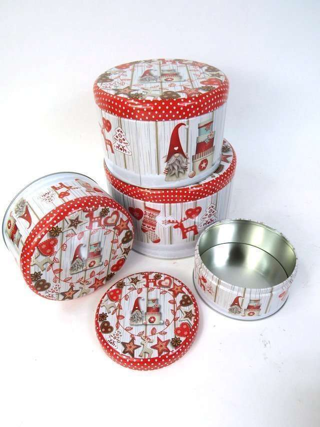 Christmas Storage Tin Set