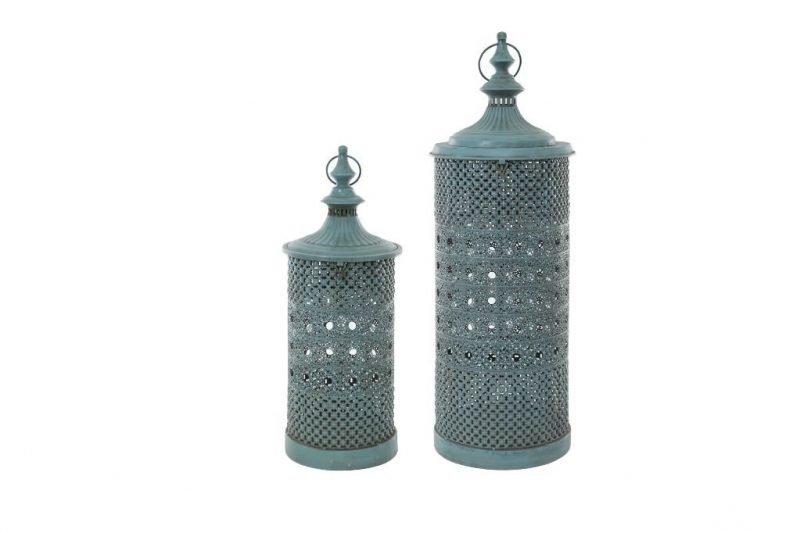 Lanterns Blue Vintage effect