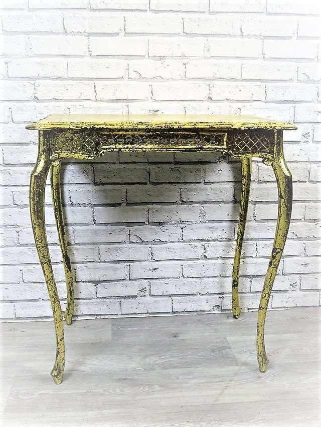 Table Black Gold Leaf