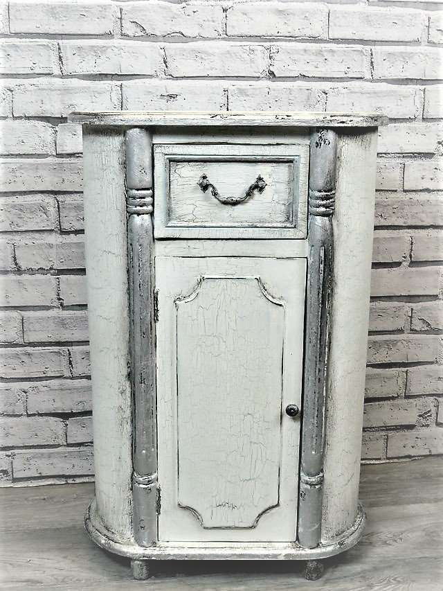 Bedside Distressed Oval antiqued