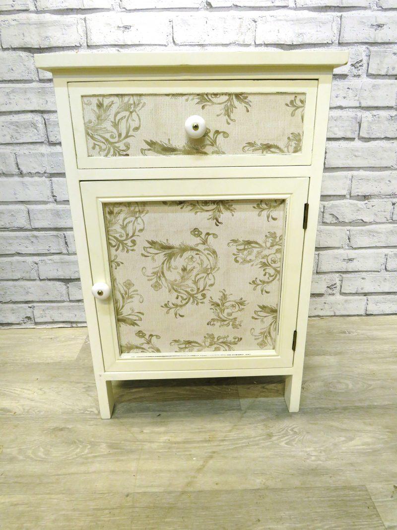 White wooden Bedside Cupboard