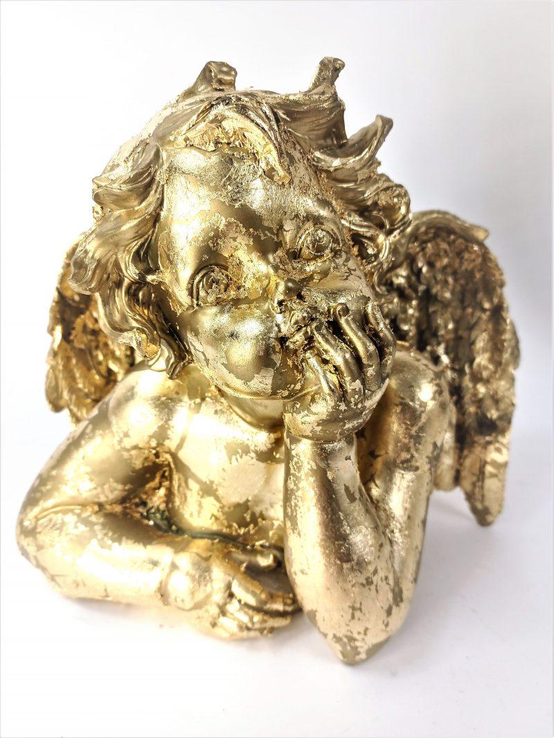 Gold Cherub Angel Ornament