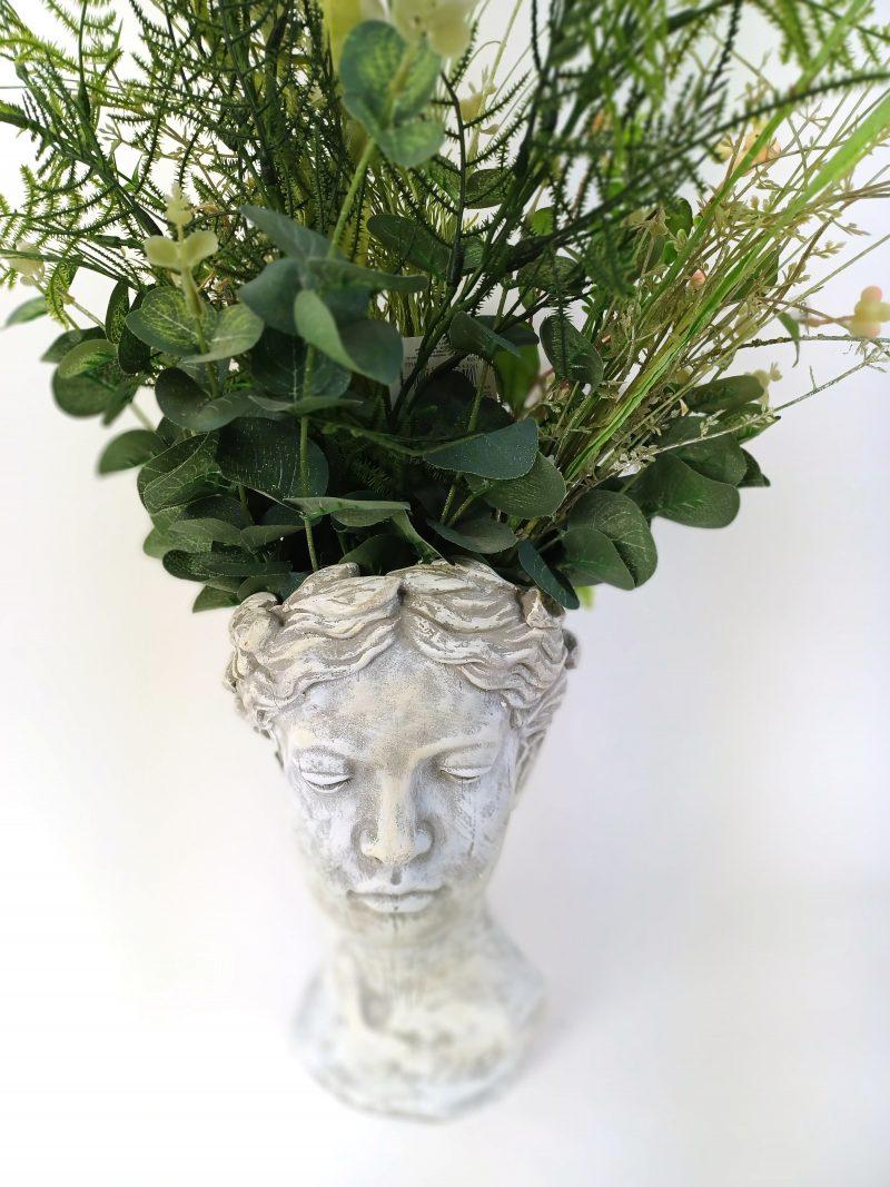 Planter Stone Lady Head