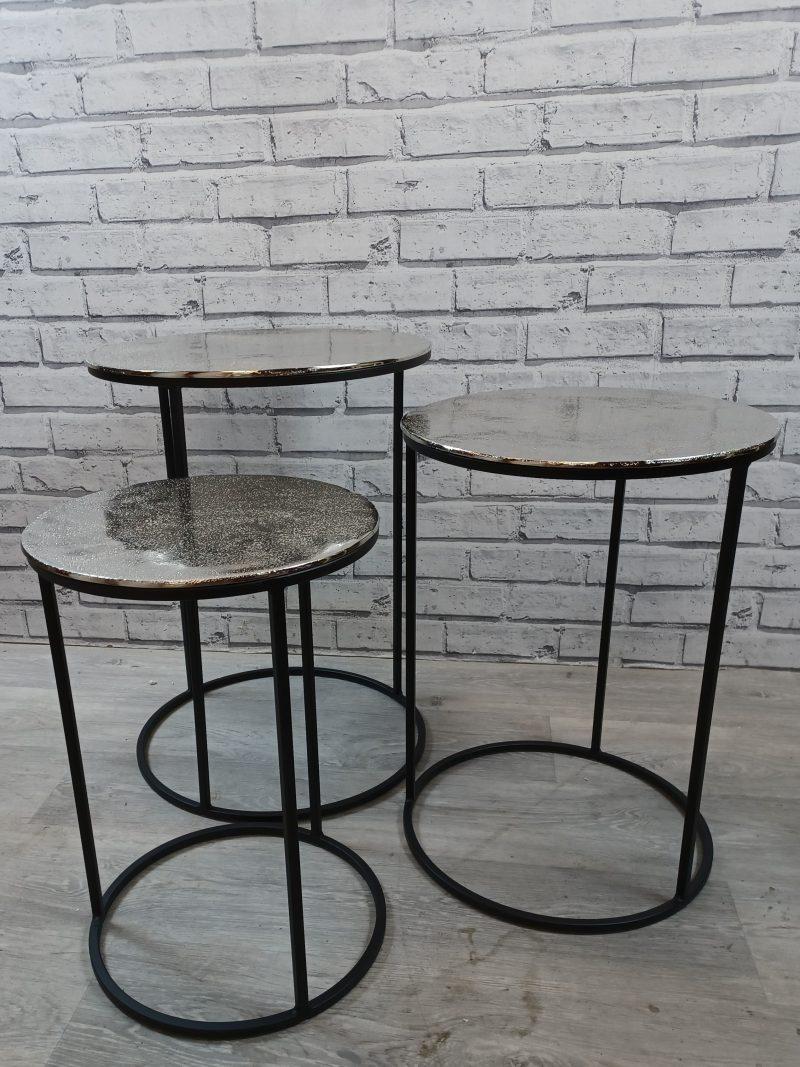 Black Silver Nesting Tables