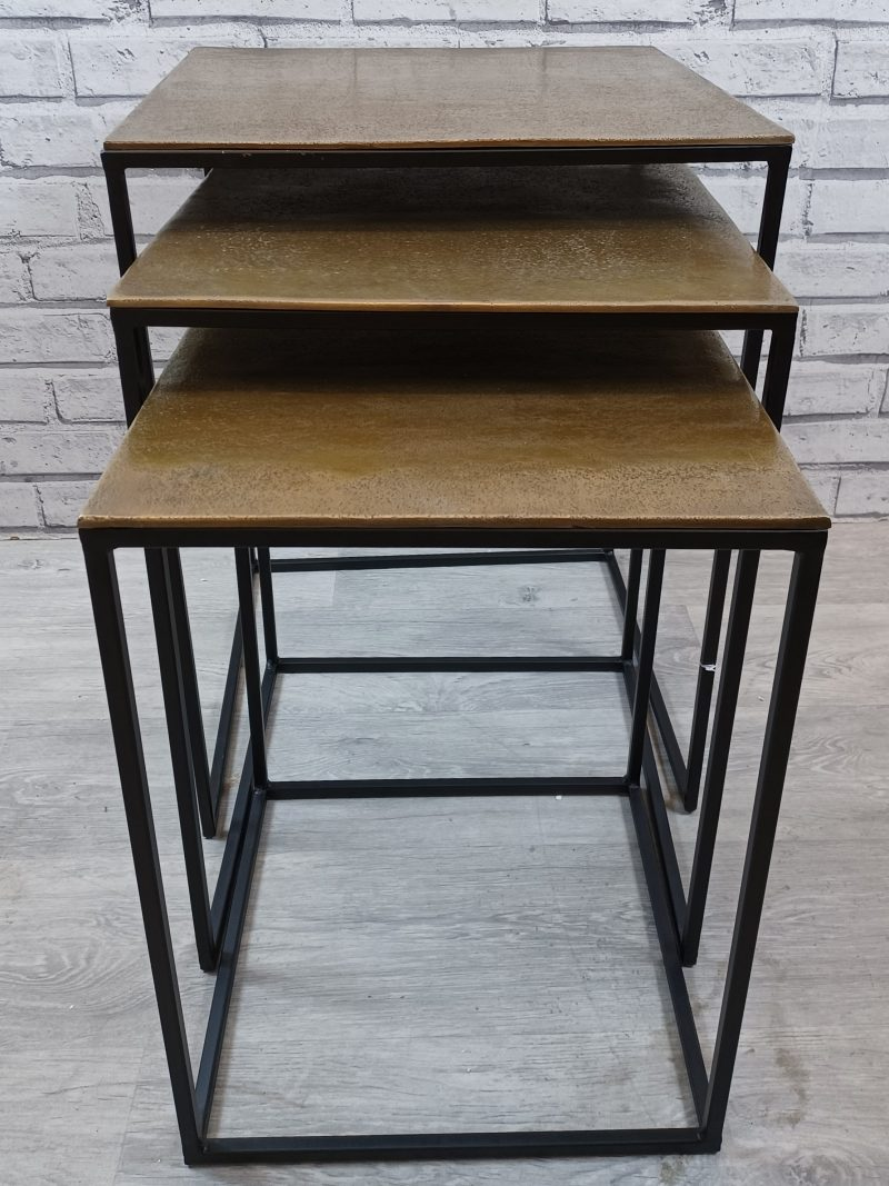 Black Gold Nesting Tables