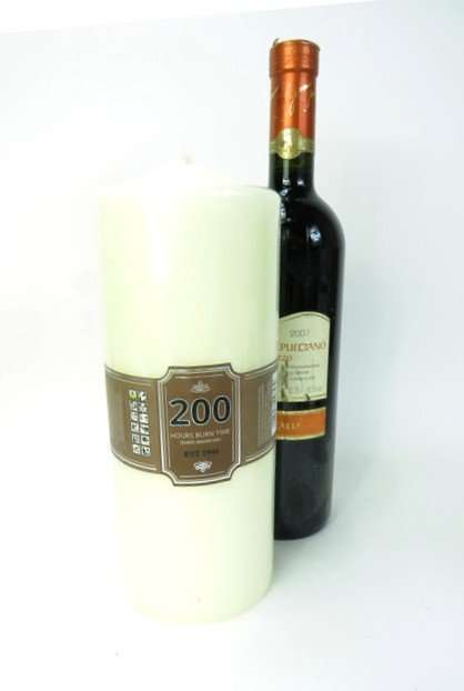 Two Large Church Candles