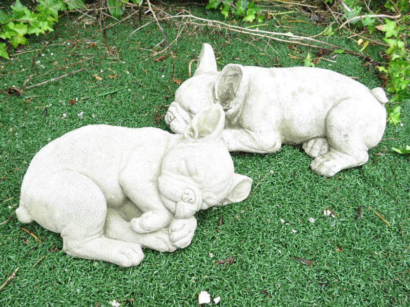 French Bull Dog Garden Stone Ornament